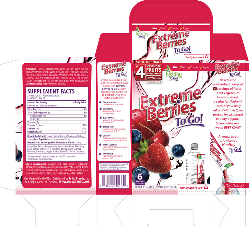 Extreme Berries To Go package design by MB Piland
