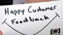 happy customer feedback