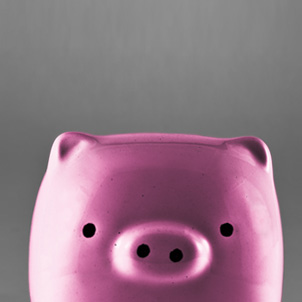 Financial Brands and MB Piland Advertising + Marketing, cool piggy bank.
