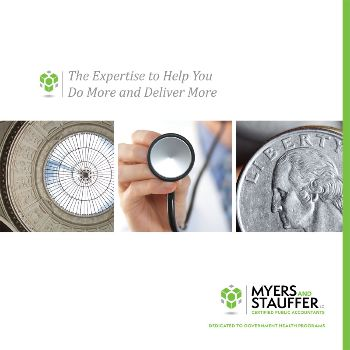 Myers and Stauffer brochure cover by MB Piland